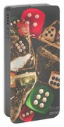 Vintage Gambling Scene Portable Battery Charger