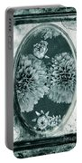 Vintage Glass Cyanoplate Dahlias Portable Battery Charger