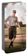Vintage Golf Portable Battery Charger
