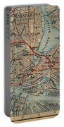 Vintage Hamburg Railway Map - 1910 Portable Battery Charger