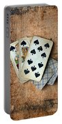 Vintage Hand Of Cards Portable Battery Charger