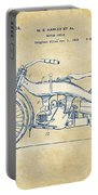 Vintage Harley-davidson Motorcycle 1924 Patent Artwork Portable Battery Charger by Nikki Smith