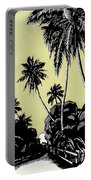 Vintage Hawaii Palms Portable Battery Charger