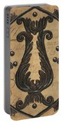 Vintage Iron Scroll Gate 2 Portable Battery Charger by Debbie DeWitt