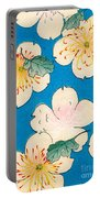 Vintage Japanese Illustration Of Dogwood Blossoms Portable Battery Charger