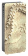 Vintage Lace And Pearls Portable Battery Charger