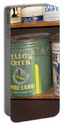 Vintage Lard Can Portable Battery Charger