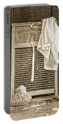 Vintage Laundry Room Portable Battery Charger by Edward Fielding