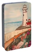 Vintage Lighthouse Portable Battery Charger