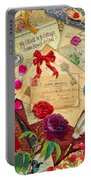 Vintage Love Letters Portable Battery Charger