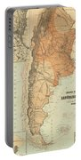 Vintage Map Of Argentina - 1882 Portable Battery Charger