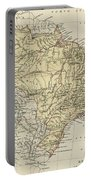 Vintage Map Of Brazil - 1889 Portable Battery Charger