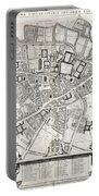 Vintage Map Of Cambridge England - 1690 Portable Battery Charger