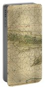 Vintage Map Of Cuba - 1639 Portable Battery Charger
