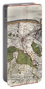Vintage Map Of Flanders Belgium - 17th Century Portable Battery Charger