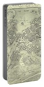 Vintage Map Of Geneva Switzerland - 1825 Portable Battery Charger