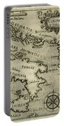 Vintage Map Of Italy And Greece - 1587 Portable Battery Charger