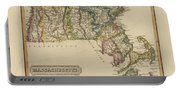 Antique Map Of Massachusetts Portable Battery Charger