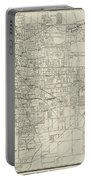 Vintage Map Of Memphis Tennessee - 1911 Portable Battery Charger