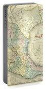 Vintage Map Of Mexico - 1847 Portable Battery Charger