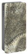 Vintage Map Of New York City - 1842 Portable Battery Charger