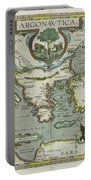 Vintage Map Of The Mediterranean Sea - 1608 Portable Battery Charger