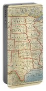 Vintage Map Of United States, 1883 Portable Battery Charger