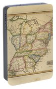 Antique Map Of United States Portable Battery Charger