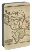 Antique Map Of Upper Territories Of The United States Portable Battery Charger