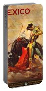 Vintage Mexico Bullfight Travel Poster Portable Battery Charger