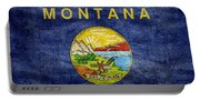 Vintage Montana Flag Portable Battery Charger