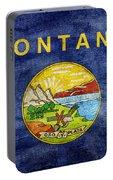 Vintage Montana Flag Portable Battery Charger