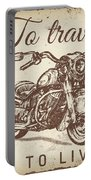Vintage Motorcycling Mancave-a Portable Battery Charger