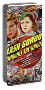 Vintage Movie Posters, Flash Godon Conquers The Universe Portable Battery Charger