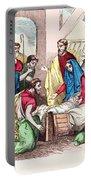 Vintage Nativity Scene Portable Battery Charger