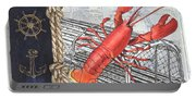 Vintage Nautical Lobster Portable Battery Charger