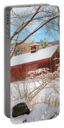 Vintage New England Barn Portrait Portable Battery Charger by Bill Wakeley