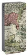 Vintage North America And Caribbean Map - 1720 Portable Battery Charger