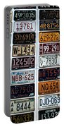 Vintage Number Plates Portable Battery Charger
