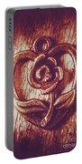 Vintage Ornamental Rose Portable Battery Charger