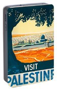 Vintage Palestine Travel Poster Portable Battery Charger