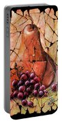 Vintage  Pear And Grapes Fresco   Portable Battery Charger