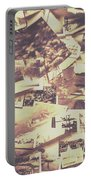 Vintage Photo Design Abstract Background Portable Battery Charger