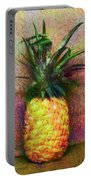 Vintage Pineapple Portable Battery Charger