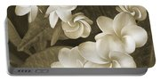 Vintage Plumeria Portable Battery Charger