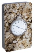 Vintage Pocket Watch Over Dried Flowers Portable Battery Charger