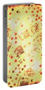 Vintage Poker Background Portable Battery Charger