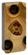 Vintage Porsche Wheel Logo Portable Battery Charger