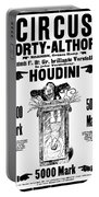 Vintage Poster Advertising A Performance By Houdini, 1922 Portable Battery Charger