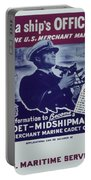 Vintage Poster - Be A Ship's Officer Portable Battery Charger